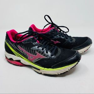 Mizuno Shoes - MIZUNO black and pink women's running sneakers